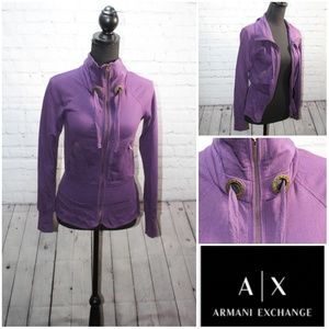 AX Armani exchange sweater jacket  xs purple